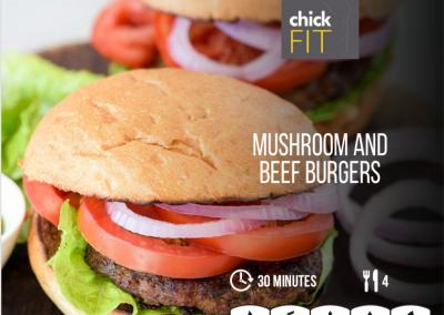 Mushroom & Beef Burgers