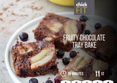 Fruity Chocolate Traybake