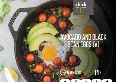 Avocado and Black Bean Eggs