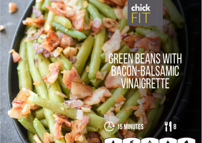 Green Beans with Bacon Balsamic Vinaigrette