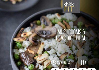 Mushrooms & Peas Pilau Rice