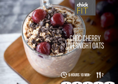 Choc cherry overnight oats