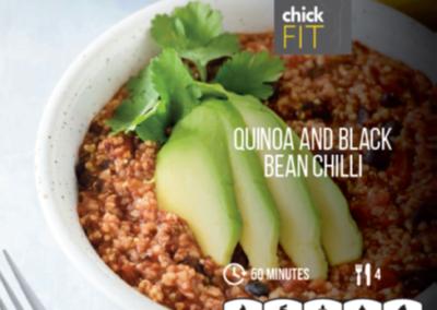 Quinoa and black bean chilli