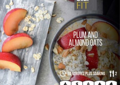 Plum and almond oats