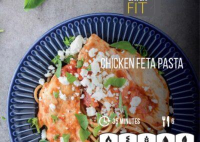 Chicken feta pasta