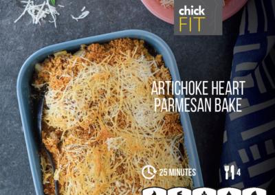 Artichoke Heart and Parmesan Bake