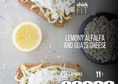 Lemony Alfalfa and Goats Cheese