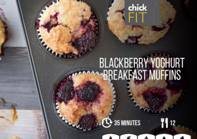 Blackberry Yoghurt Breakfast Muffins