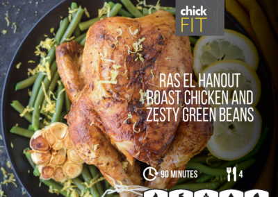 Ras El Hanout Roast Chicken with Zesty Green Beans