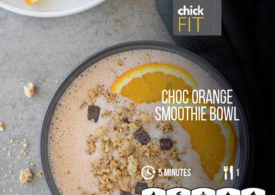 Choc Orange Smoothie Bowl
