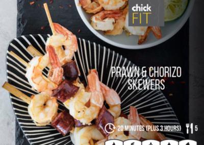 Prawn and Chorizo Skewers