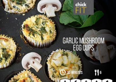 Garlic Mushroom Egg Cups