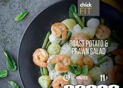 Roast Potato Prawn Salad