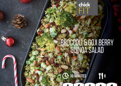 Broccoli Goji Berry Quinoa Salad