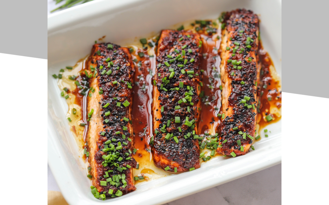 Ginger Soy Salmon With Coconut Rice